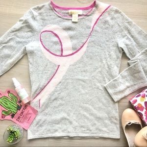 Pure Cashmere Pink Ribbon Cancer Awareness Sweater